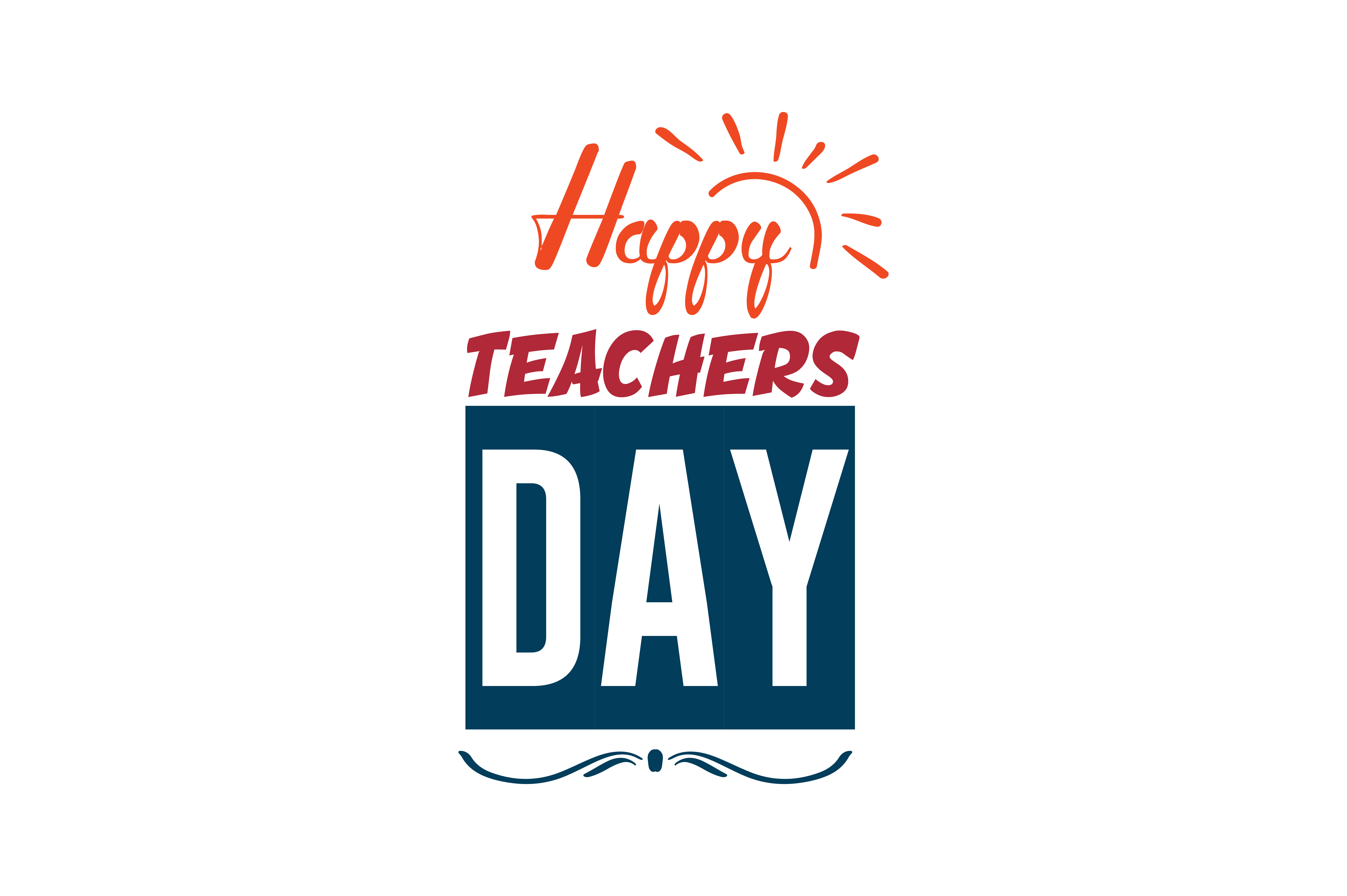 Download Free Happy Teachers Day Quote Svg Cut Graphic By Thelucky Creative for Cricut Explore, Silhouette and other cutting machines.