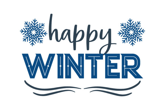 Download Free Happy Winter Quote Svg Cut Graphic By Thelucky Creative Fabrica for Cricut Explore, Silhouette and other cutting machines.