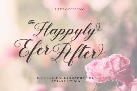 Print on Demand: Happyly Ever After Script & Handwritten Font By Zane Studio