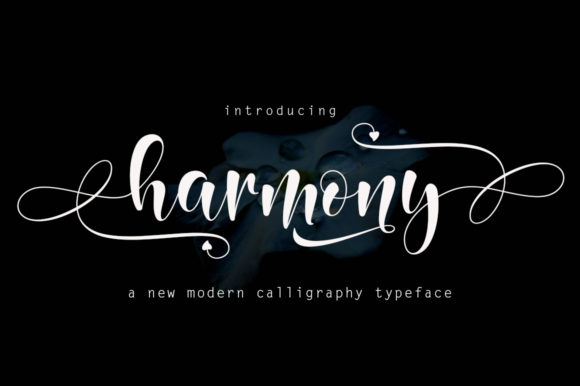 Print on Demand: Harmony Script & Handwritten Font By Rudistudio