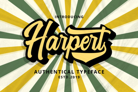 Print on Demand: Harpert Script & Handwritten Font By Ijem RockArt