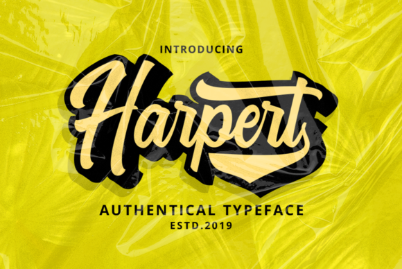 Print on Demand: Harpert Script & Handwritten Font By Ijem RockArt - Image 2