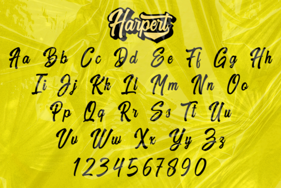 Print on Demand: Harpert Script & Handwritten Font By Ijem RockArt - Image 10