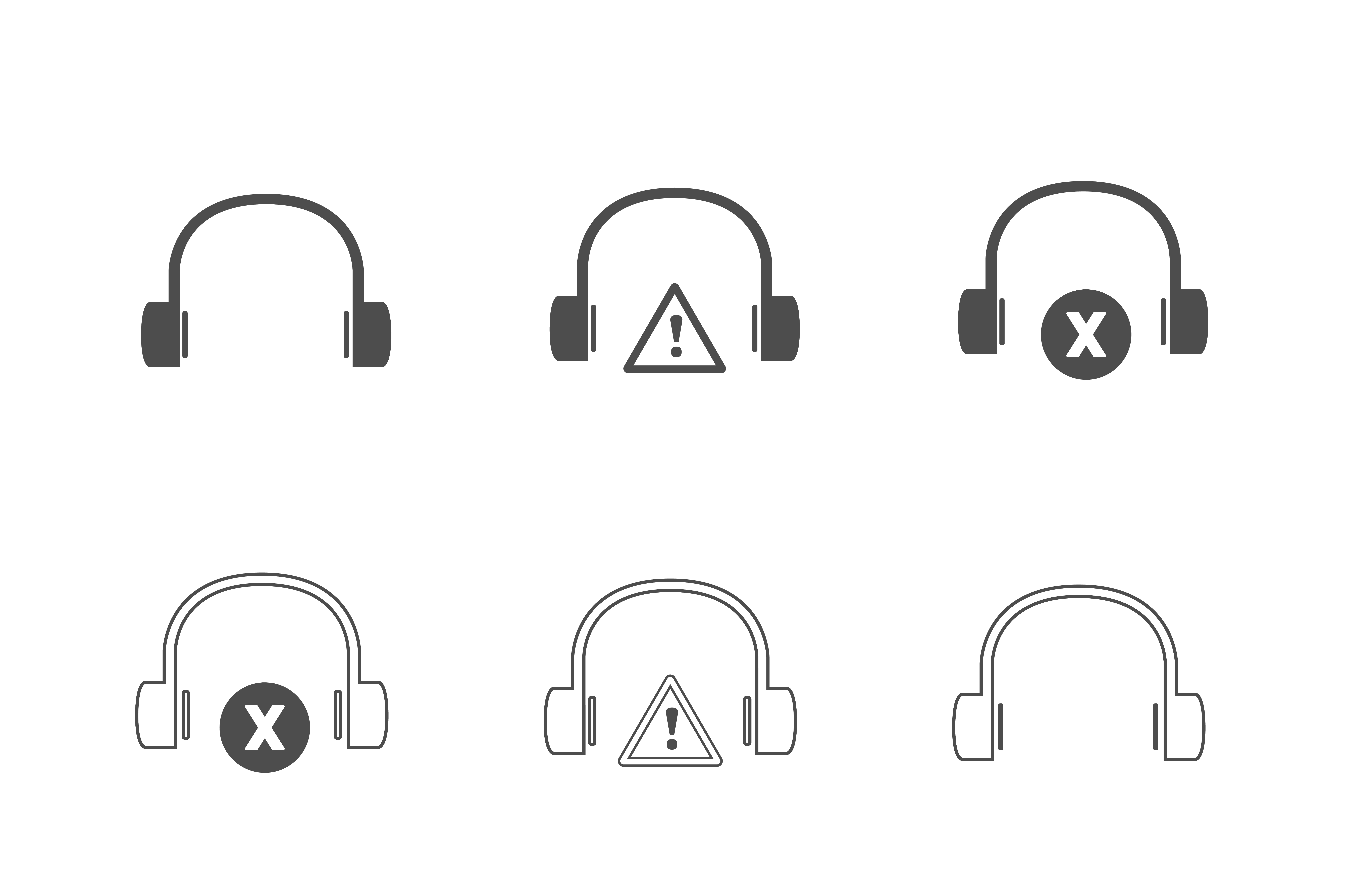 Download Free Headset Unique Icons Graphic By Drondesign Creative Fabrica for Cricut Explore, Silhouette and other cutting machines.