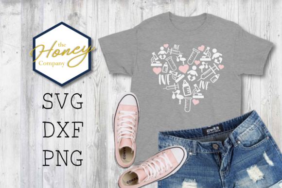 Download Free Heart Infertility Awareness Graphic By The Honey Company for Cricut Explore, Silhouette and other cutting machines.