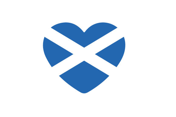 Heart with Scottish Flag Scotland Craft Cut File By Creative Fabrica Crafts