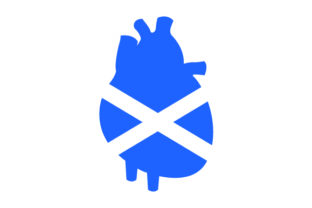 Heart with Scottish Flag Craft Design By Creative Fabrica Crafts
