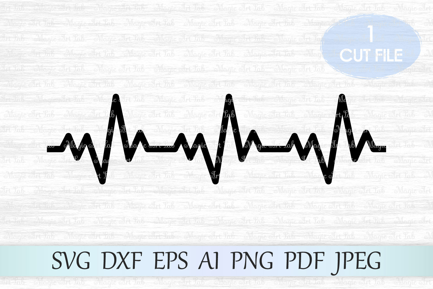 Download Free Heartbeat Graphic By Magicartlab Creative Fabrica for Cricut Explore, Silhouette and other cutting machines.