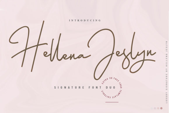 Print on Demand: Hellena Jeslyn Duo Script & Handwritten Font By lickermelody