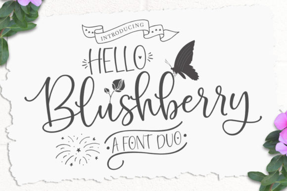Print on Demand: Hello Blushberry Duo Manuscrita Fuente Por Great Studio