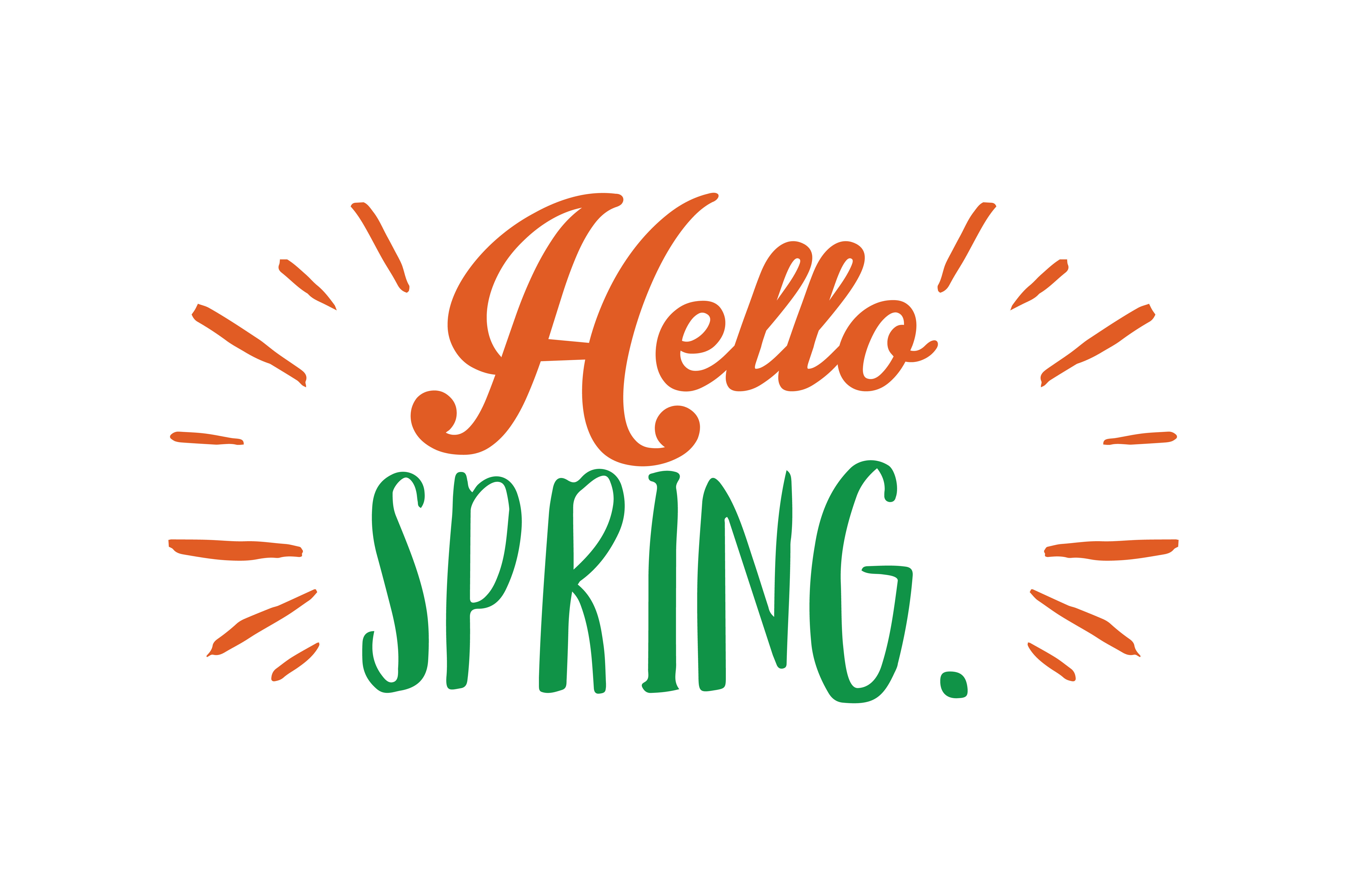 Download Free Hello Spring Quote Svg Cut Graphic By Thelucky Creative Fabrica SVG Cut Files