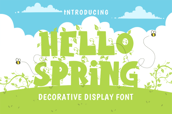 Print on Demand: Hello Spring Display Font By figuree studio