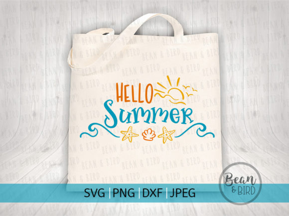 Print on Demand: Hello Summer Svg Cut File Graphic Crafts By Jessica Maike - Image 2