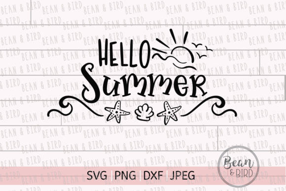 Print on Demand: Hello Summer Svg Cut File Graphic Crafts By Jessica Maike - Image 3