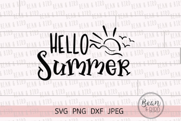 Print on Demand: Hello Summer Svg Cut File Graphic Crafts By Jessica Maike - Image 4