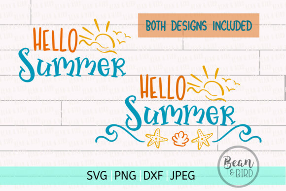 Print on Demand: Hello Summer Svg Cut File Graphic Crafts By Jessica Maike