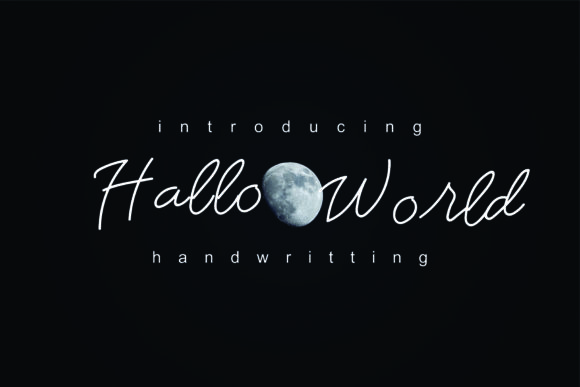Hello World Script & Handwritten Font By esto type