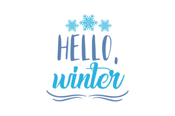 Print on Demand: Hello,winter Quote SVG Cut Graphic Crafts By TheLucky