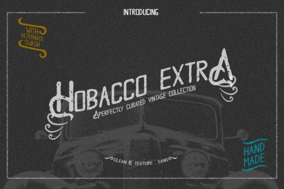 Print on Demand: Hobacco Extra Display Font By rometheme
