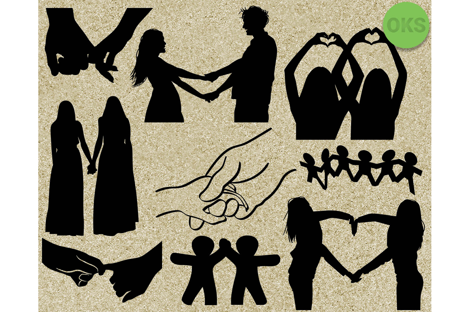 Download Free Holding Hands Graphic By Crafteroks Creative Fabrica for Cricut Explore, Silhouette and other cutting machines.