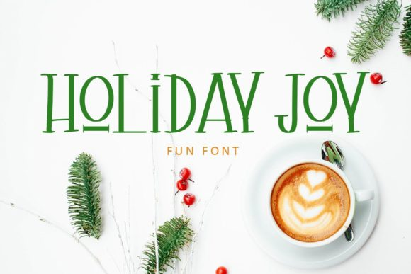 Holiday Joy Display Font By Creativeqube Design