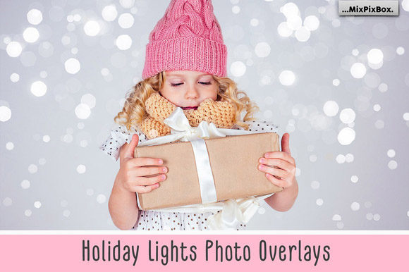 Print on Demand: Holiday Lights Photo Overlays Graphic Layer Styles By MixPixBox - Image 1