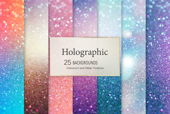 Holographic Backgrounds Graphic Backgrounds By Creative Paper