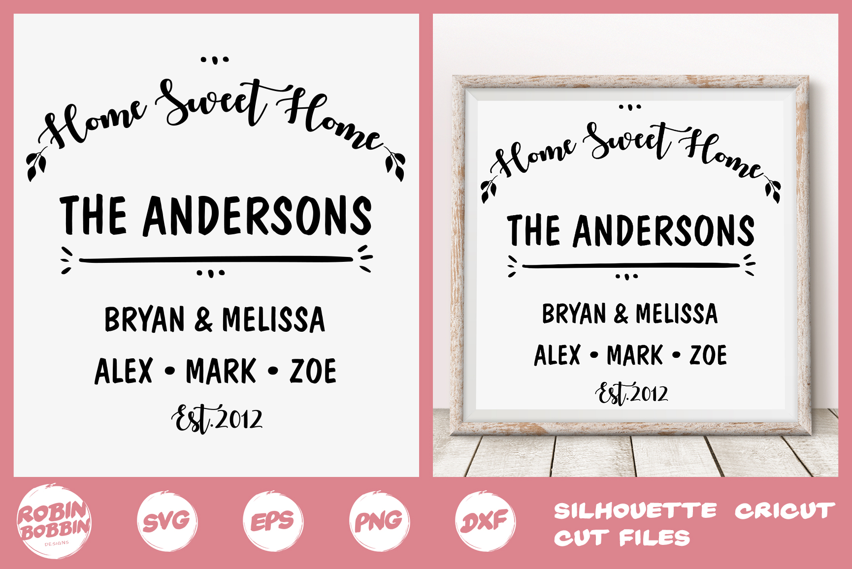 Download Free Home Sweet Home Sign Graphic By Robinbobbindesign Creative Fabrica for Cricut Explore, Silhouette and other cutting machines.