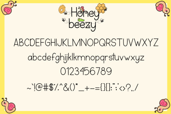 Print on Demand: Honey Beezy Script & Handwritten Font By Patricia (DMStd) - Image 6