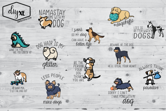 Download Free Huge Dog Bundle Graphic By Sheryl Holst Creative Fabrica for Cricut Explore, Silhouette and other cutting machines.