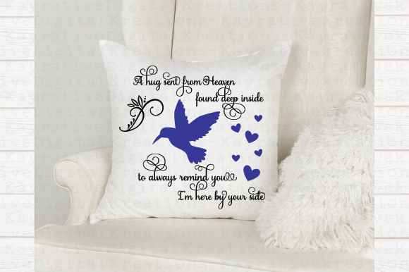 Humming Bird Memorial Svg A Hug From Heaven Graphic By Kayla