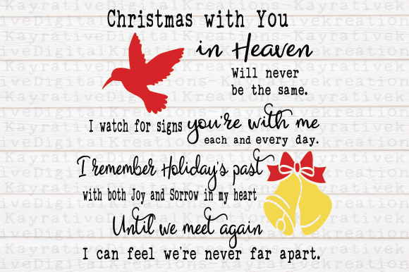 Download Free Hummingbird Christmas Memorial Svg Graphic By Kayla Griffin for Cricut Explore, Silhouette and other cutting machines.