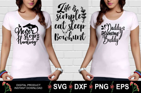 Download Free Hunting Design Bundle Graphic By Aesthetic Studio Creative Fabrica for Cricut Explore, Silhouette and other cutting machines.