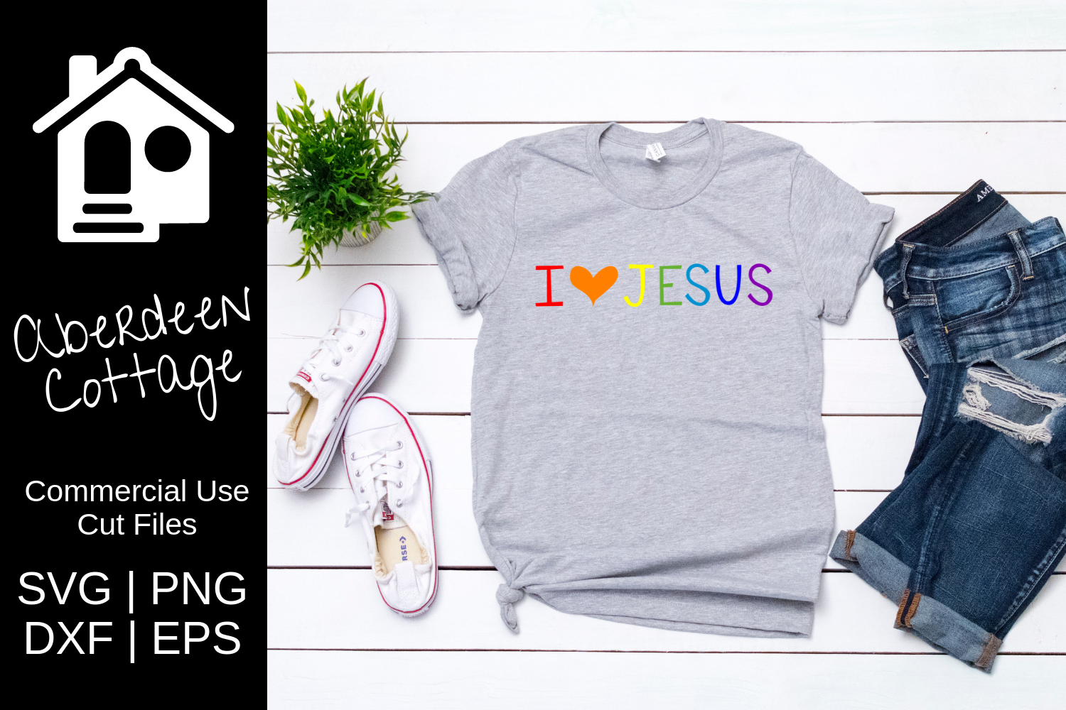 Download Free I Love Jesus Christian Svg Graphic By Aberdeencottage Creative for Cricut Explore, Silhouette and other cutting machines.