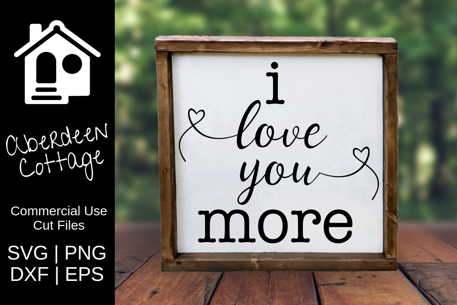 Download Free I Love You More Svg Graphic By Aberdeencottage Creative Fabrica for Cricut Explore, Silhouette and other cutting machines.