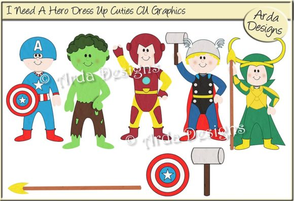 Download Free I Need A Hero Dress Up Cuties Grafico Por Arda Designs for Cricut Explore, Silhouette and other cutting machines.