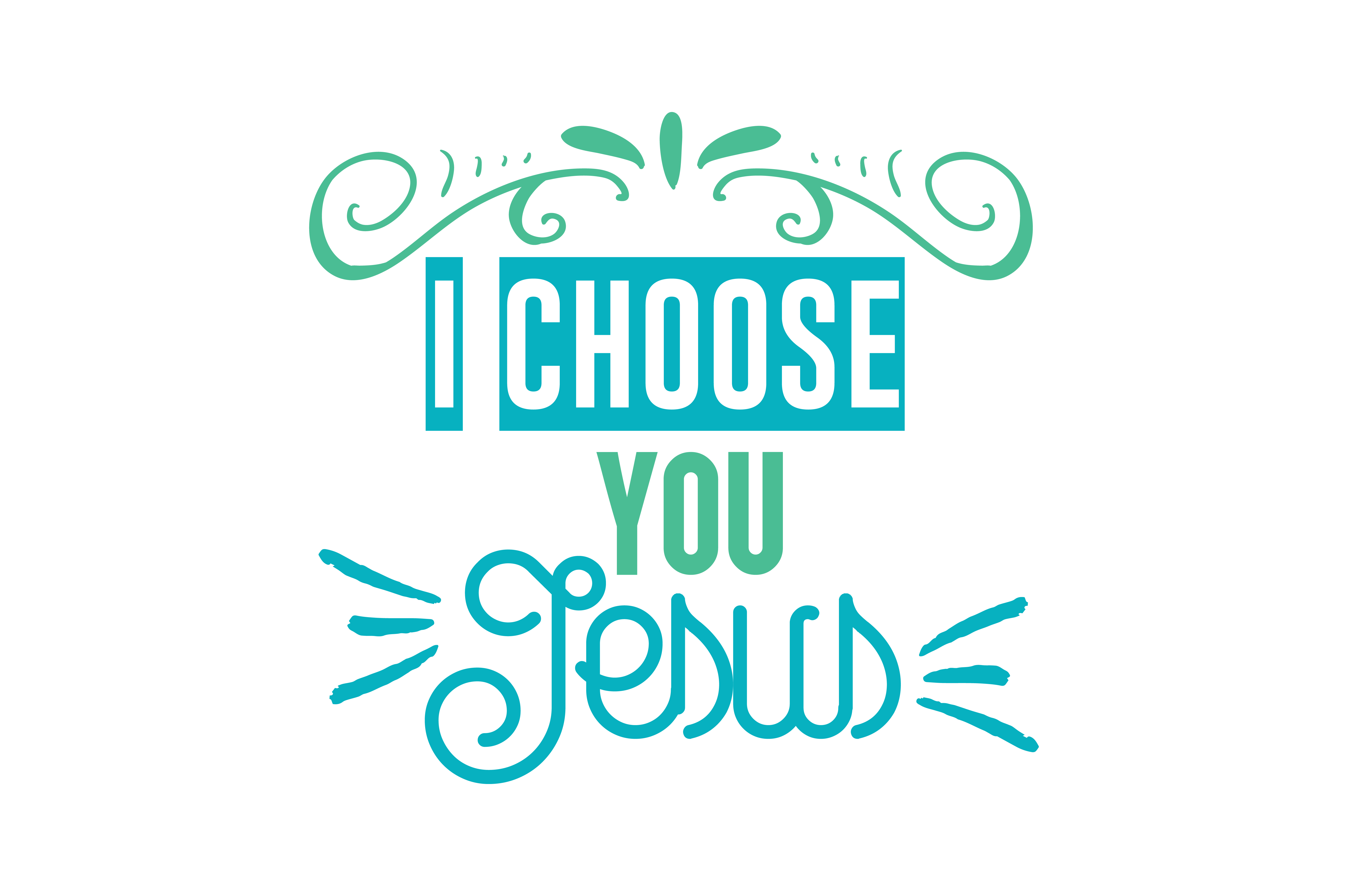 Download Free I Choose You Jesus Quote Svg Cut Graphic By Thelucky Creative for Cricut Explore, Silhouette and other cutting machines.