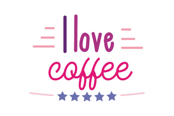 Download Free I Love Coffee Quote Svg Cut Graphic By Thelucky Creative Fabrica for Cricut Explore, Silhouette and other cutting machines.