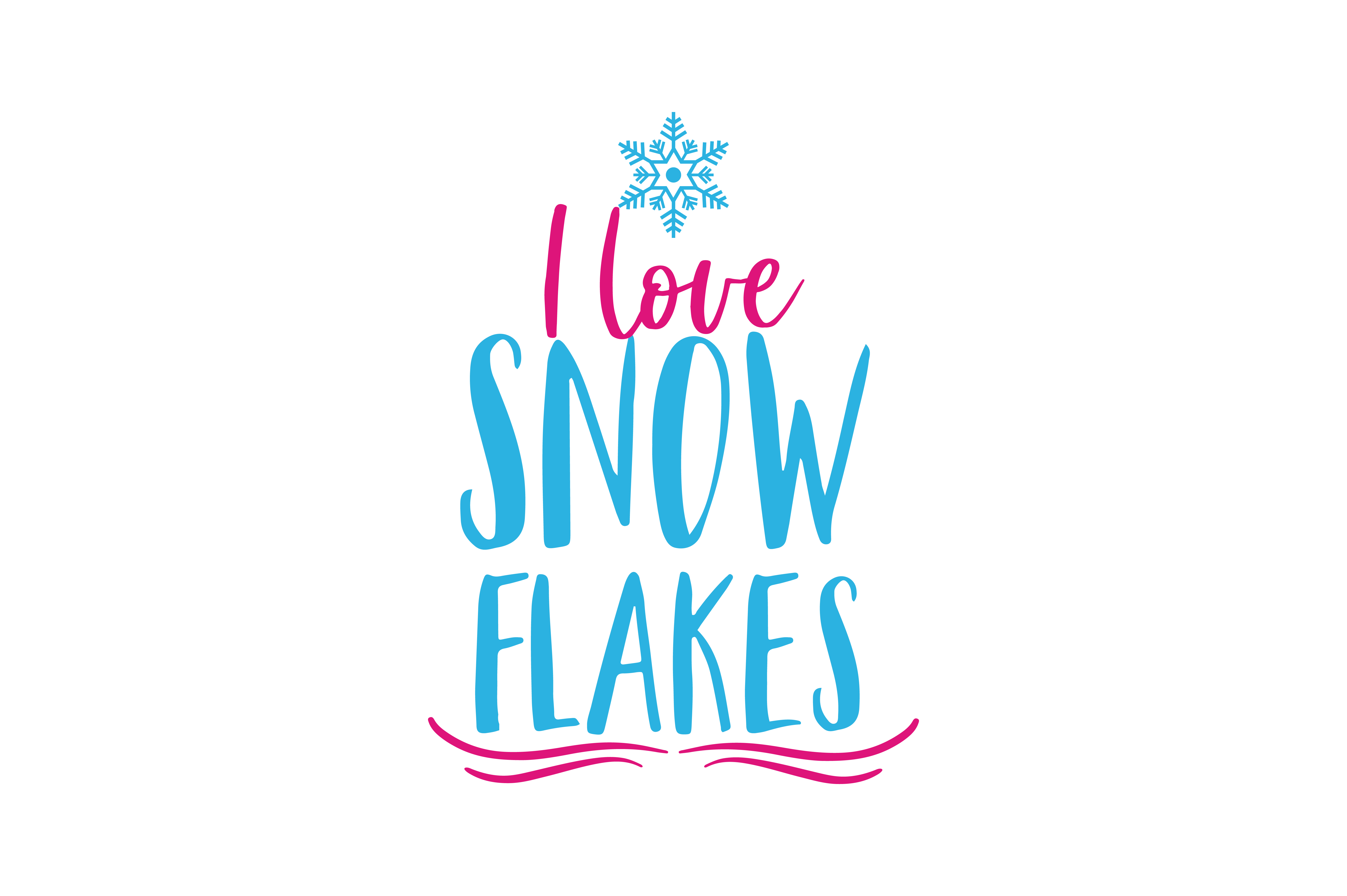 Download Free I Love Snow Flakes Quote Svg Cut Graphic By Thelucky Creative for Cricut Explore, Silhouette and other cutting machines.