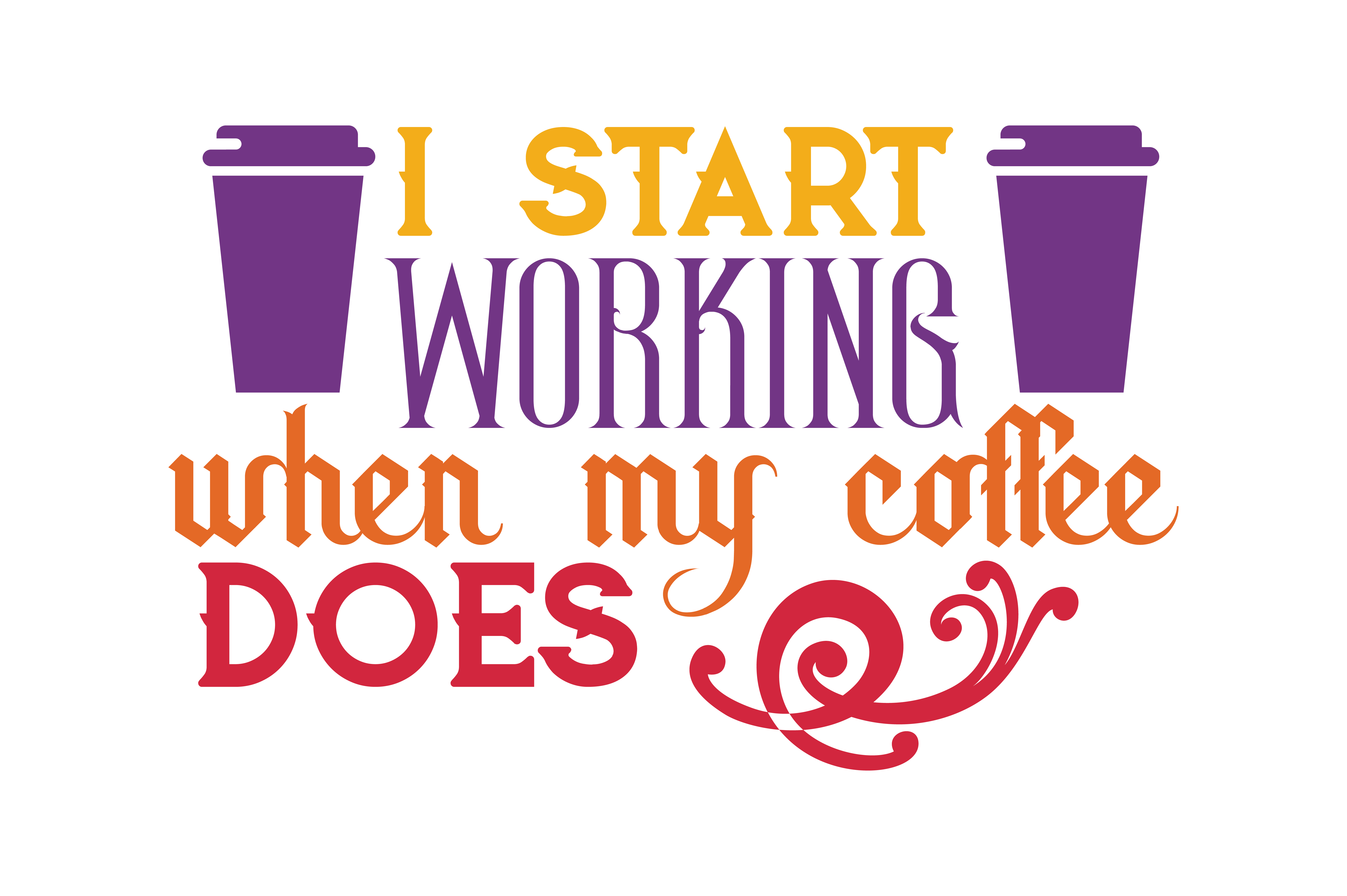 Download Free I Start Working When Coffee And Friends Make The Perfect Blend SVG Cut Files
