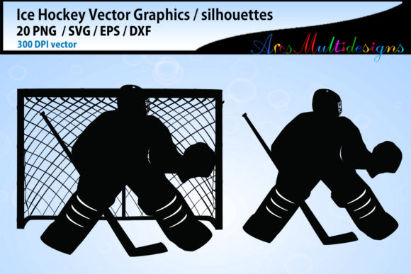 Download Free Ice Hockey Svg Silhouette Bundle Graphic By Arcs Multidesigns for Cricut Explore, Silhouette and other cutting machines.