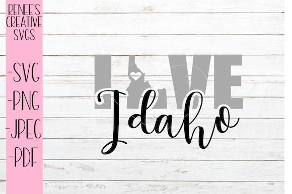 Download Free Idaho Love Graphic By Reneescreativesvgs Creative Fabrica for Cricut Explore, Silhouette and other cutting machines.