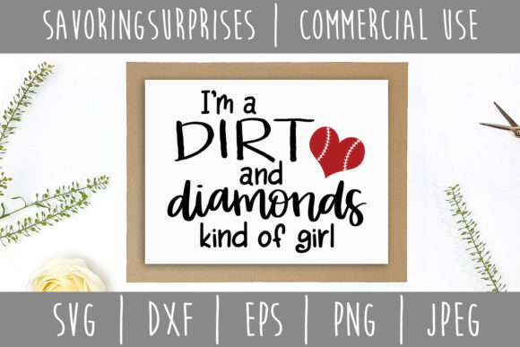 Download Free I M A Dirt And Diamonds Kind Of Girl Svg Graphic By for Cricut Explore, Silhouette and other cutting machines.