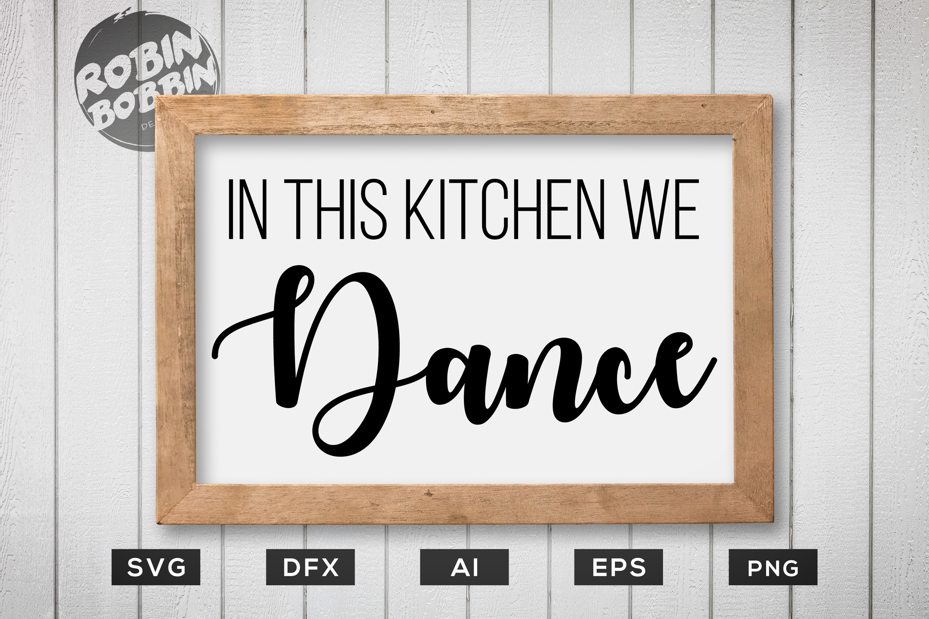 Download Free In This Kitchen We Dance Kitchen Poster Graphic By for Cricut Explore, Silhouette and other cutting machines.