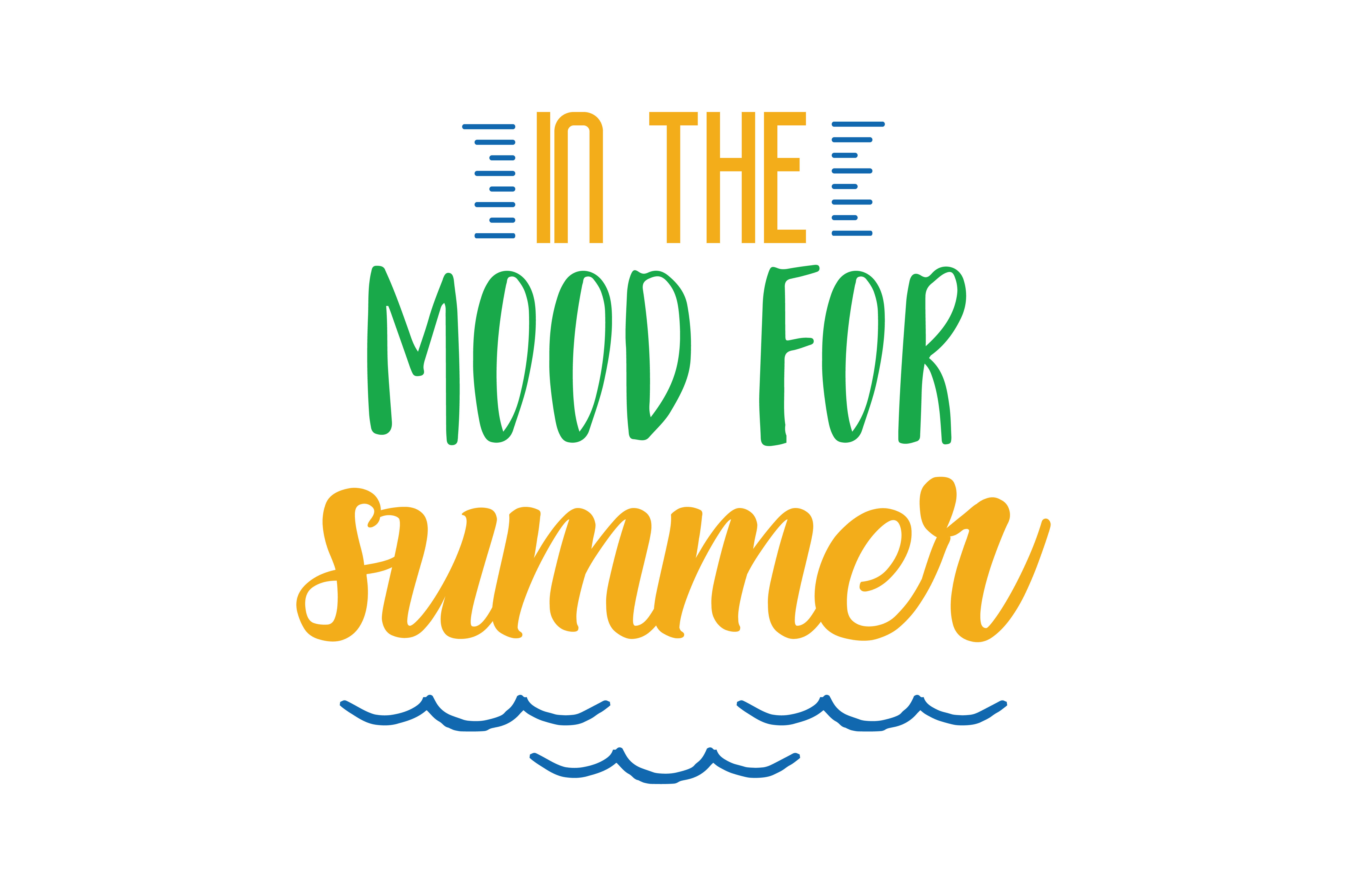 Download Free In The Mood For Summer Quote Svg Cut Graphic By Thelucky for Cricut Explore, Silhouette and other cutting machines.