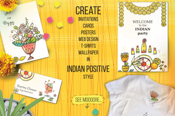 Print on Demand: Indian Flowers Bundle Graphic Crafts By Zooza Art - Image 11