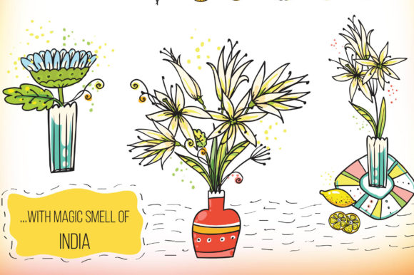 Print on Demand: Indian Flowers Bundle Graphic Crafts By Zooza Art - Image 6