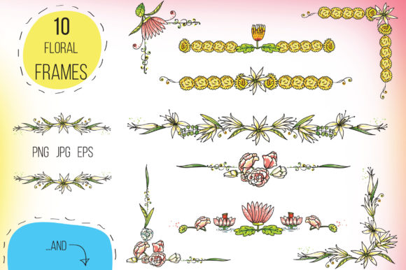 Print on Demand: Indian Flowers Bundle Graphic Crafts By Zooza Art - Image 9