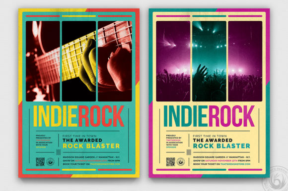 Indie Rock Flyer Template V2 Graphic By ThatsDesignStore