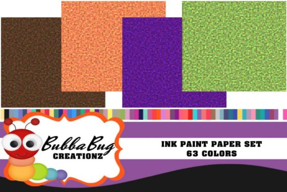 Ink Paint Paper Set Graphic Patterns By BUBBABUG